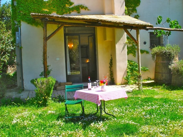 Abruzzo Agriturismo Vakantie Appartement ABV0120E TerrasJPG
